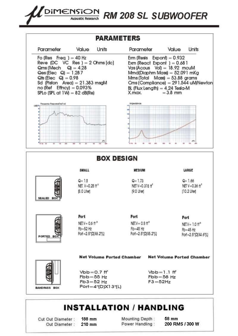 dimension rm 208 sl tw j sklep car audio. Black Bedroom Furniture Sets. Home Design Ideas